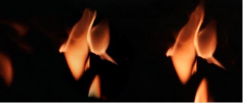 Eternal Flame Reflective Glass